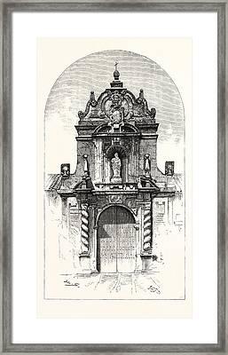 Door Of The Church Of San Pablo, Cordova Framed Print by Spanish School