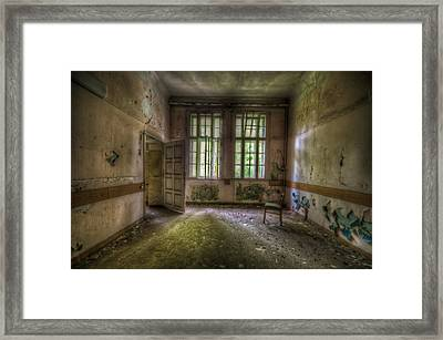 Door On To Chair Framed Print by Nathan Wright