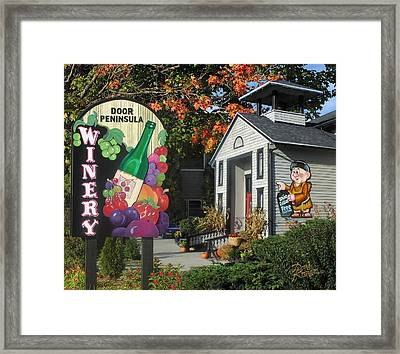 Door Peninsula Winery Framed Print by Doug Kreuger