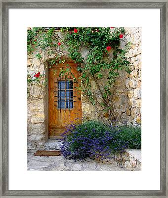 Door, Provence Framed Print by Holly C. Freeman