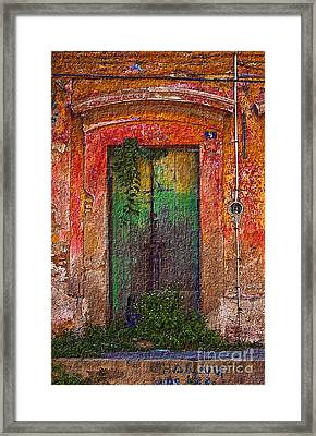 Framed Print featuring the photograph Door Series - Green by Susan Parish