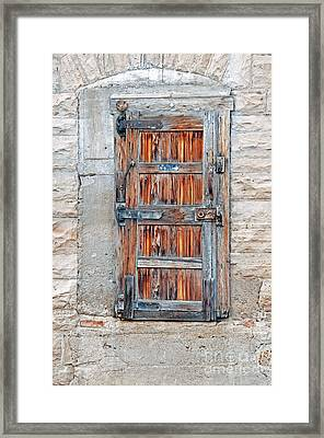 Framed Print featuring the photograph Door Series by Minnie Lippiatt
