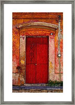 Door Series - Red Framed Print by Susan Parish
