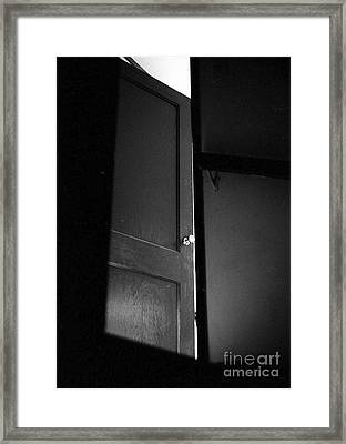 Door Framed Print by Steven Macanka
