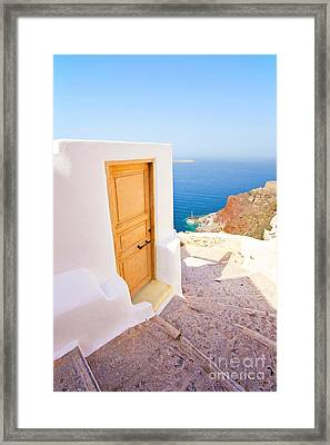 Door Suddenly Framed Print by Aiolos Greek Collections