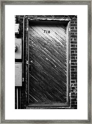 Door To 718 Framed Print