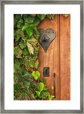 Door To My Heart Framed Print by Georgia Fowler