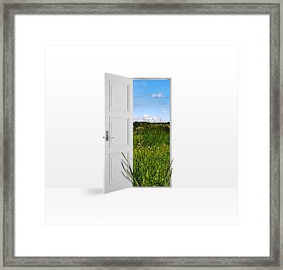 Door To Nature Framed Print by Aged Pixel
