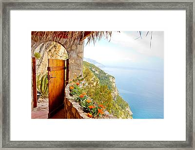 Door To Paradise Framed Print by Susan Schmitz