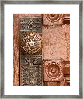 Door To Texas State Capital Framed Print