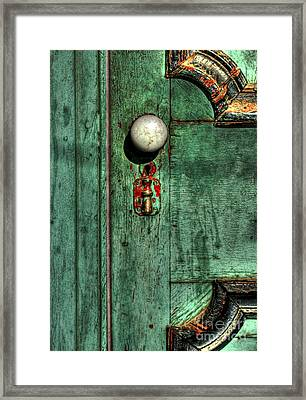 Door To The Past Framed Print by Benanne Stiens