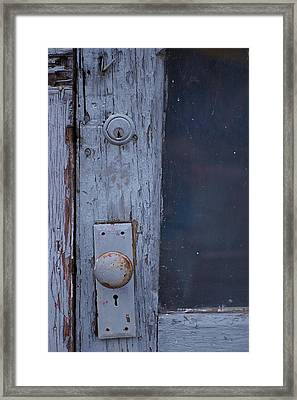 Door To The Past Framed Print by Randy Pollard