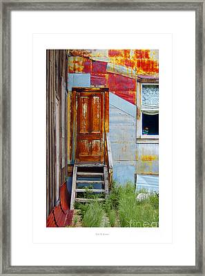 Door To The Past  St. Elmo Framed Print
