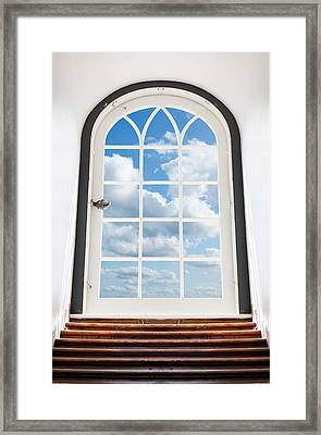 Door To The Sky Framed Print by Alexey Stiop