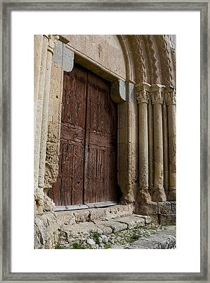 Door To The Templar Church Framed Print by Lorraine Devon Wilke