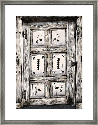 Door To The Unknown Framed Print by Melissa Smith