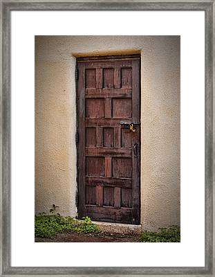 Door To Your Id ...  Framed Print by Chuck Caramella