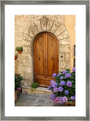 Door, Tuscany Framed Print