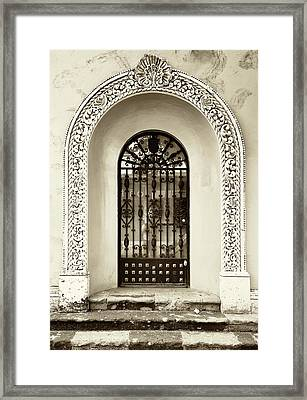 Door With Decorated Arch Framed Print