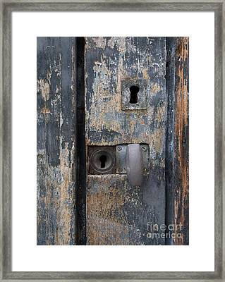 Door With Peeling Paint Framed Print by Bernard Jaubert