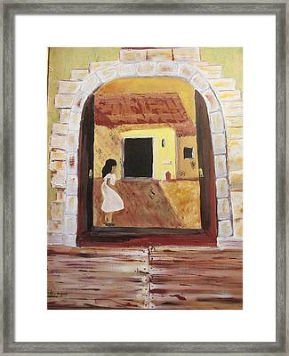 Door Within Framed Print