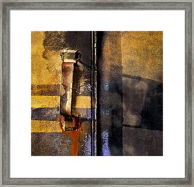 Doors And Handle Framed Print by Murray Bloom