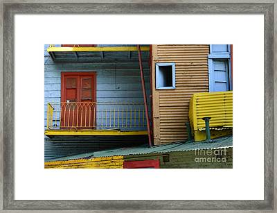 Doors And Windows Buenos Aires 4 Framed Print