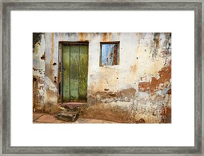 Doors And Windows Lencois Brazil 4 Framed Print by Bob Christopher