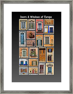 Doors And Windows Of Europe Framed Print by David Letts