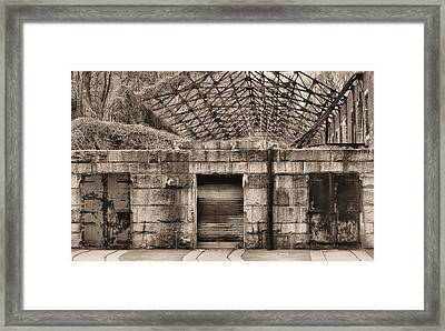 Doors Bw Framed Print by JC Findley