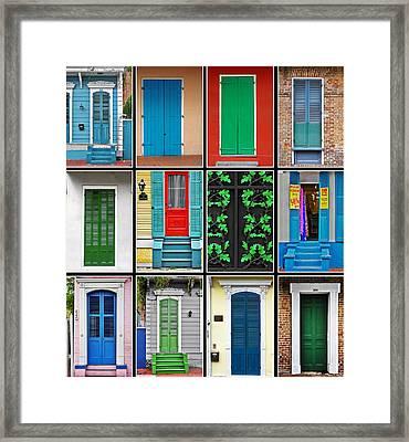 Doors New Orleans Framed Print