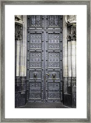 Doors Of Cologne 04 Framed Print by Teresa Mucha