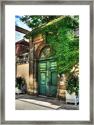 Doors Of Dijon 2 Framed Print by Mel Steinhauer
