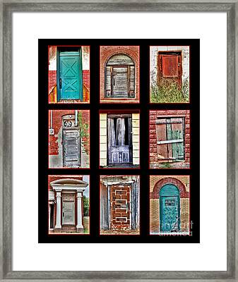 Doors Of Distinction Framed Print