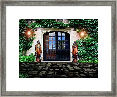 Doors Of Ivy Framed Print