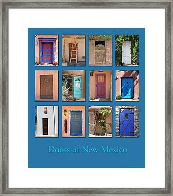 Doors Of New Mexico Framed Print by Heidi Hermes