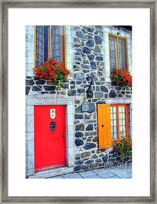 Doors Of Quebec 2 Framed Print by Mel Steinhauer