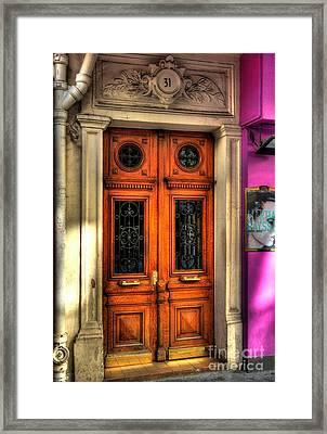 Doors Of Rue Cler 2 Framed Print by Mel Steinhauer