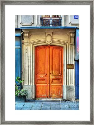 Doors Of Rue Cler 3 Framed Print by Mel Steinhauer