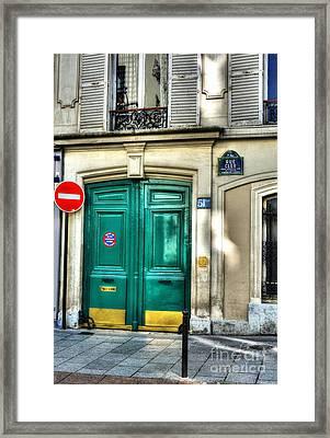Doors Of Rue Cler Framed Print