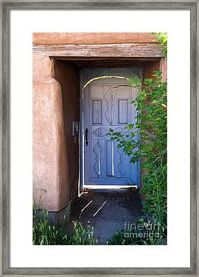 Framed Print featuring the photograph Doors Of Santa Fe by Roselynne Broussard