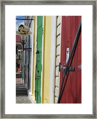 Framed Print featuring the photograph Doors Of St. Thomas Usvi  by Jean Marie Maggi