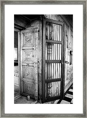 Doors Silver And Iron Framed Print by Jagdish Agarwal