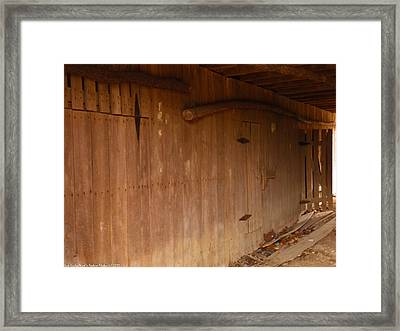 Framed Print featuring the photograph Doors To The Past by Nick Kirby