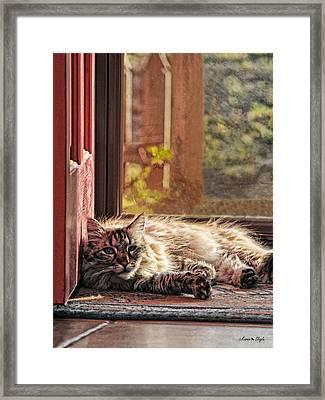 Doorstop Framed Print by Karen Slagle