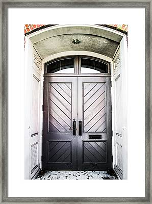 Doorway At Morris Avenue Framed Print by Shelby  Young