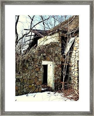 Doorway Back Through Time Framed Print by Janine Riley