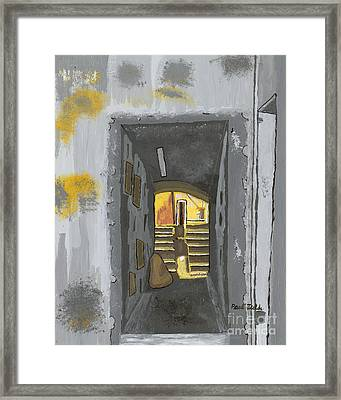 Doorway In Cinque Terra Framed Print