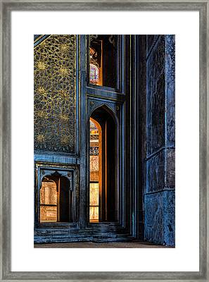 Doorway In The Blue Mosque Framed Print