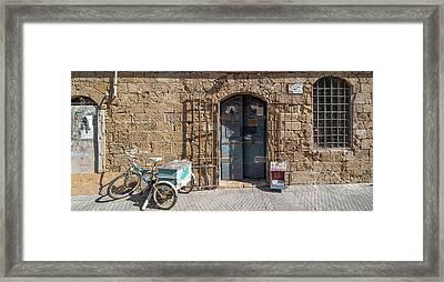 Doorway Of A Building, Jaffa, Tel Aviv Framed Print